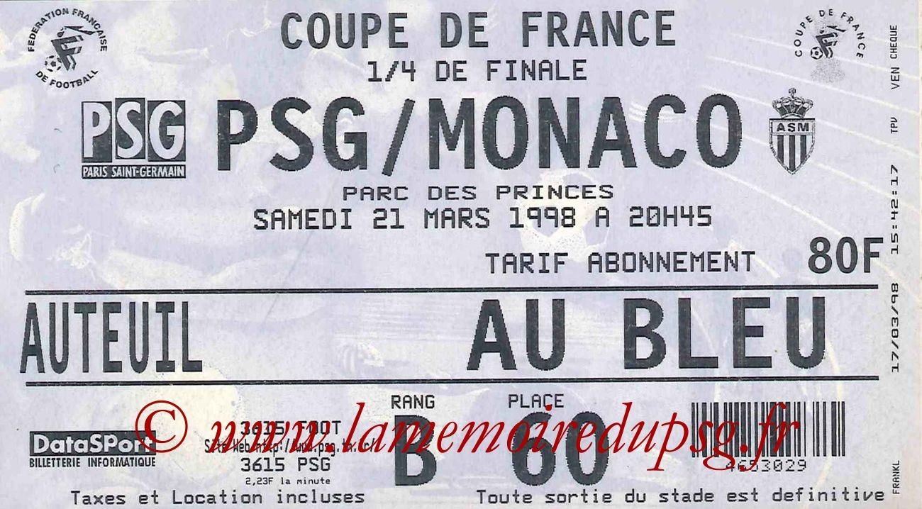 1998-03-21  PSG-Monaco (Quart Finale CF)