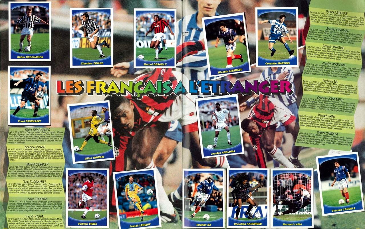 1997-98 - Panini Superfoot - Pages 26 et 27 - Les français de l'étranger