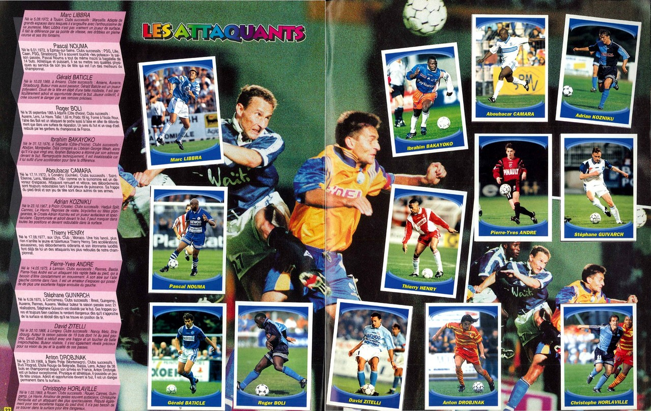 1997-98 - Panini Superfoot - Pages 22 et 23 - Les attaquants