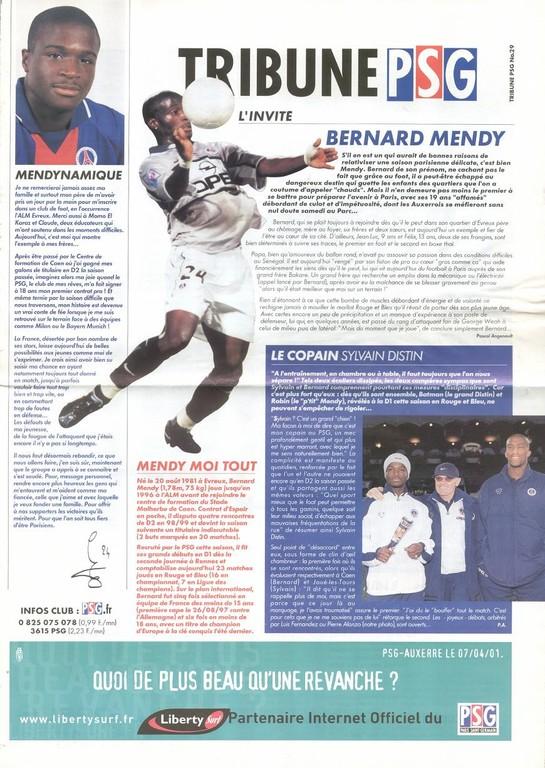 2001-04-07  PSG-Auxerre (30ème D1, Tribune PSG N°29)