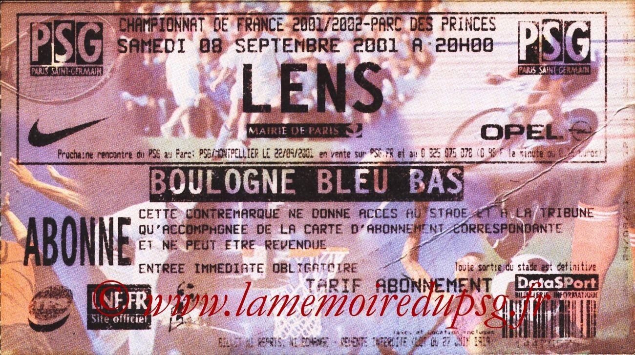 2001-09-08  PSG-Lens (6ème D1)