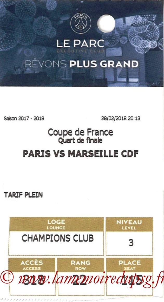 2018-02-28  PSG-Marseille (Quart CF, E-ticket Executive club 2)