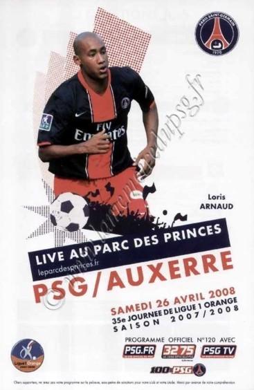 2008-04-26  PSG-Auxerre (35ème L1, Officiel N°120)