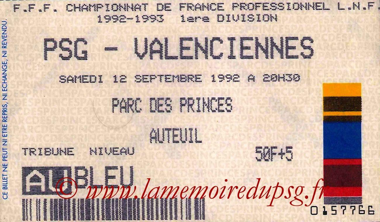 1992-09-12  PSG-Valenciennes (6ème D1)