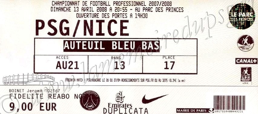 2008-04-13  PSG-Nice (33ème L1)