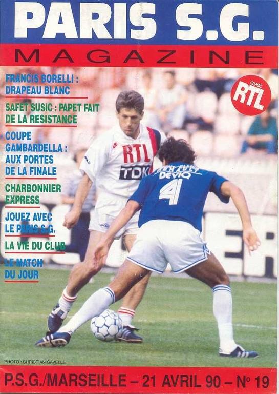 1990-04-21  PSG-Marseille (34ème D1, Paris SG Magazine N°19)