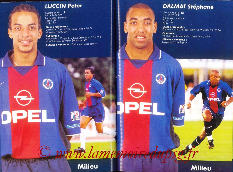 2000-01 - Guide de la Saison PSG - Pages 54 et 55
