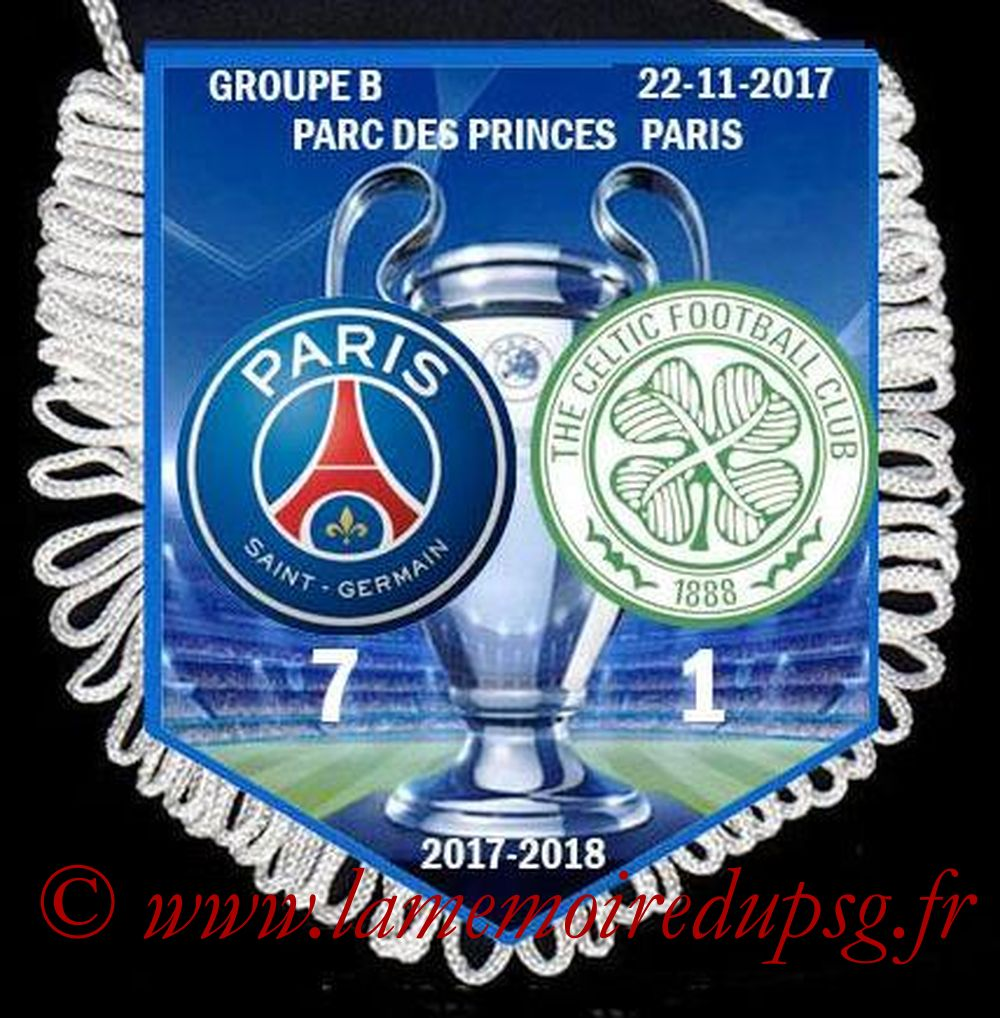 2017-11-22  PSG-Celtic-PSG (5ème Poule C1)