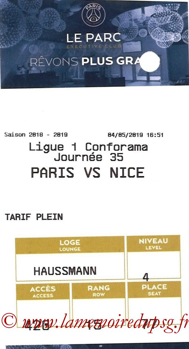2019-05-04  PSG-Nice (35ème L1, E-ticket Executive club)
