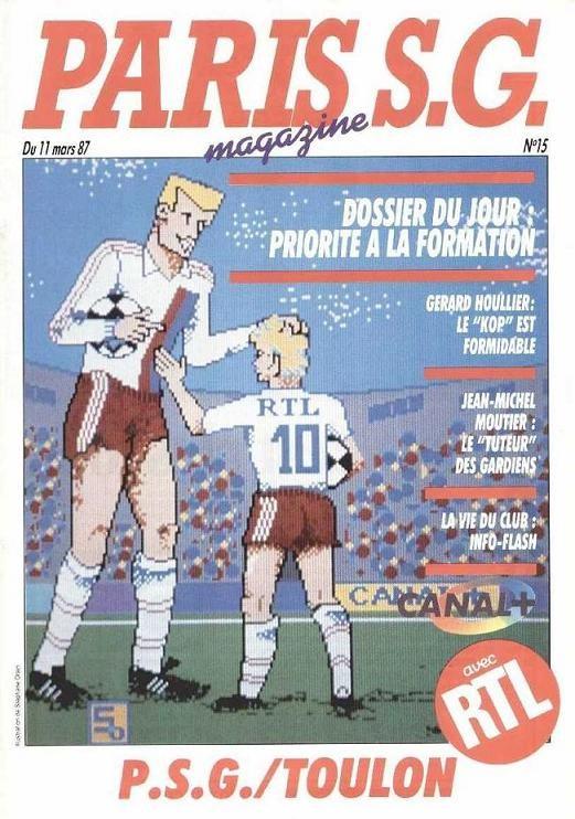 1987-03-11  PSG-Toulon (26ème D1, Paris SG Magazine N°15)