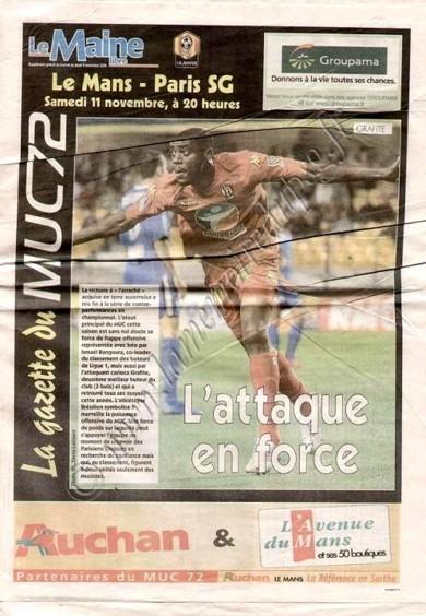 2006-11-11  Le Mans-PSG (13ème L1, La Gazette du MUC72)