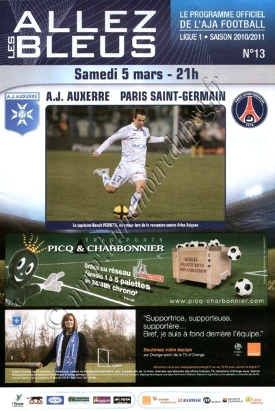 2011-03-05  Auxerre-PSG (26ème L1, Allez les Bleus N°13)