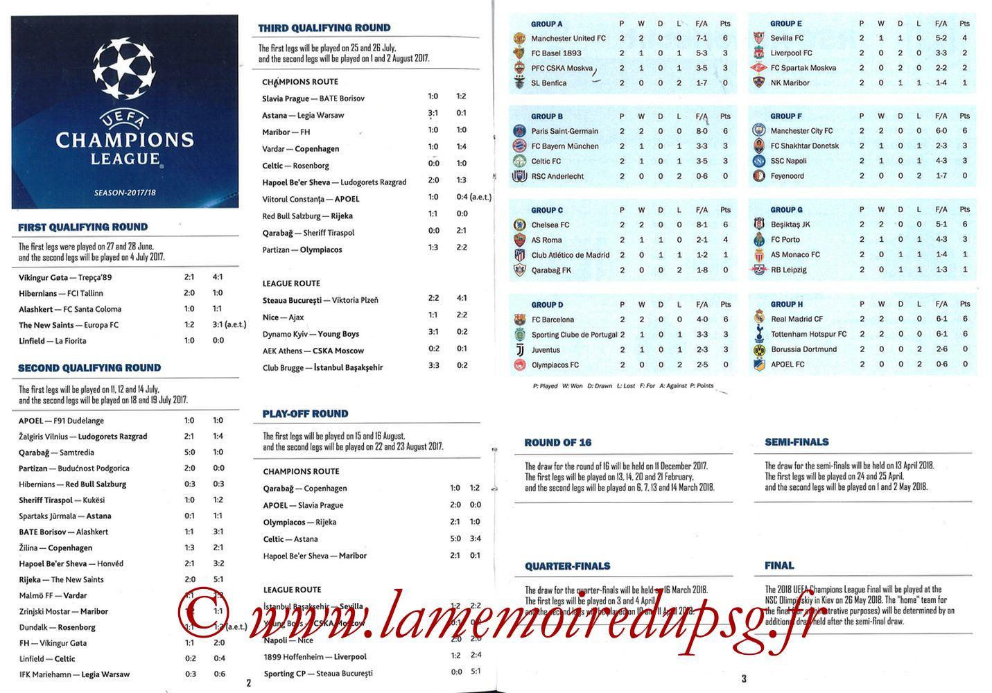 2017-10-18  Anderlecht-PSG (3ème Poule C1, Programme pirate) - Pages 02 et 03