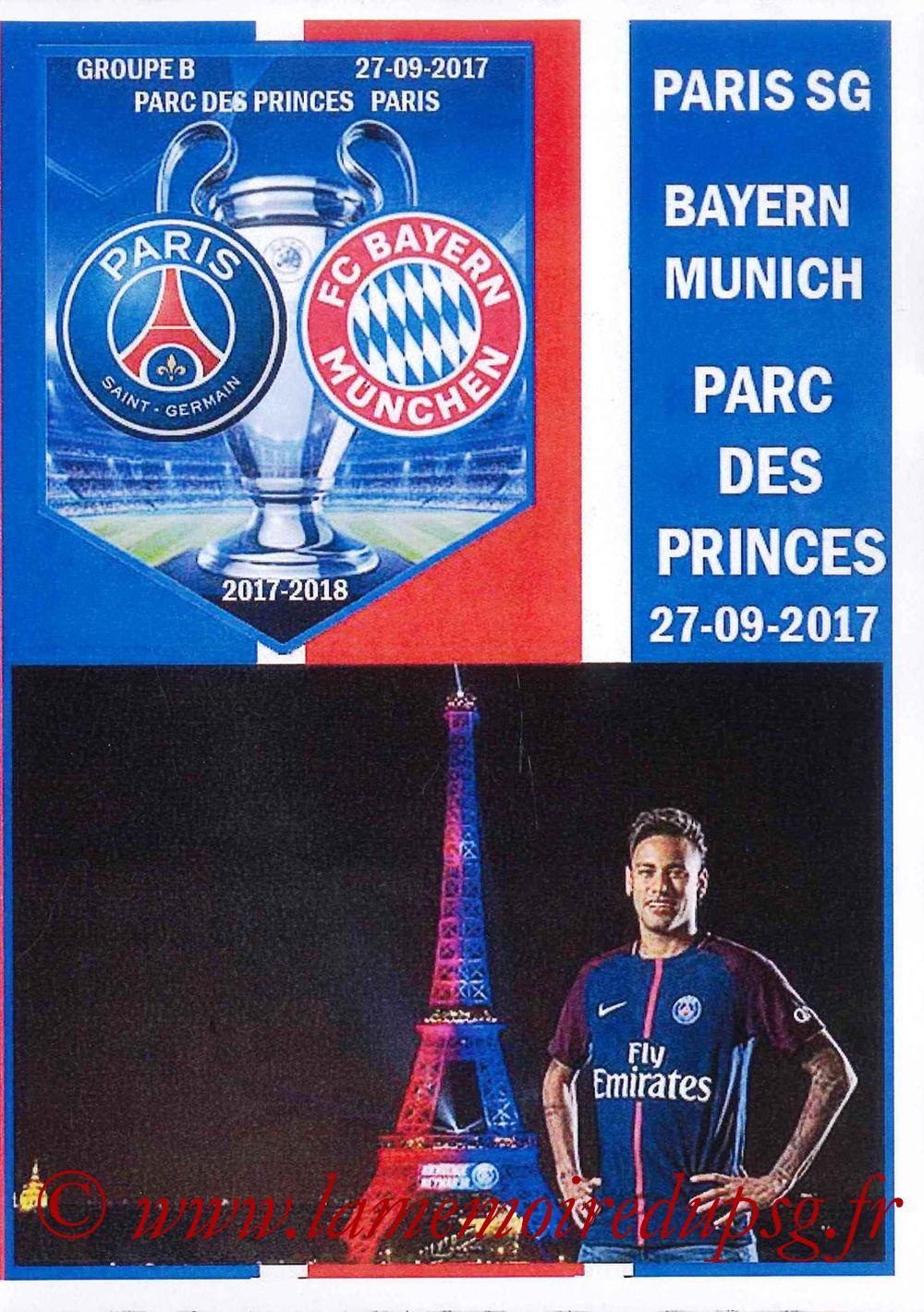 2017-09-27  PSG-Bayern (2ème Poule C1, Programme pirate)