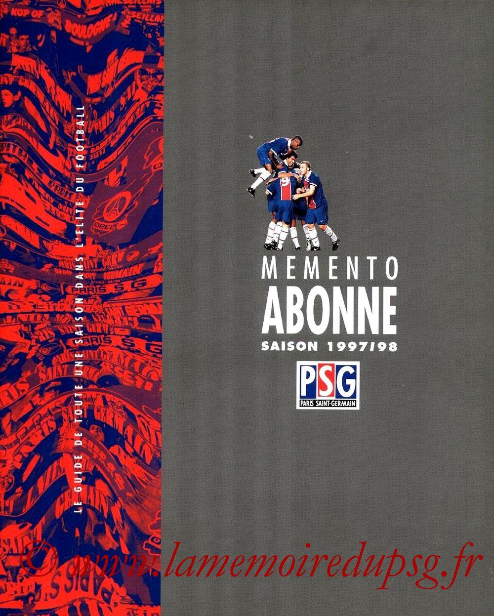 1997-98 - Guide de la Saison PSG