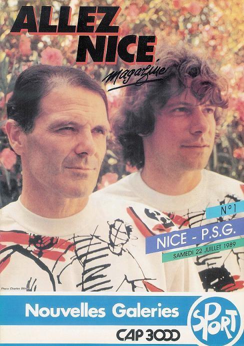 1989-07-22  Nice-PSG (1ère D1, Allez Nice N°1)
