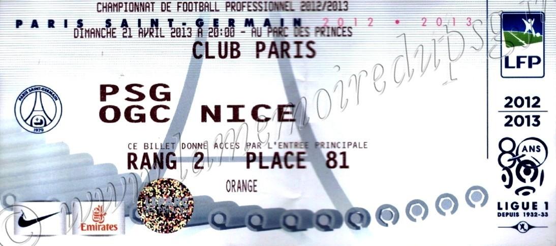 2013-04-21  PSG-Nice (33ème L1, Club Paris)