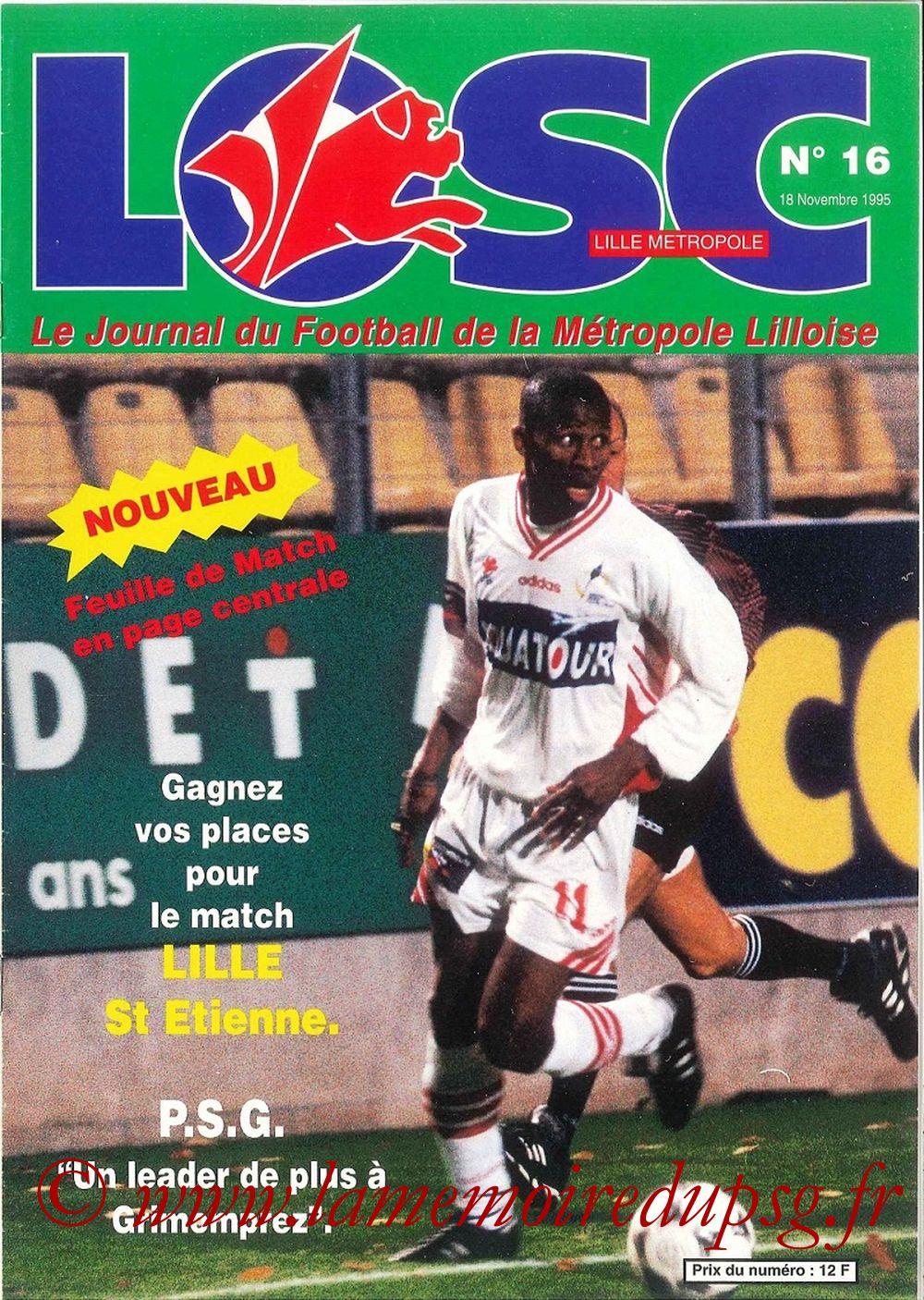 1995-11-18  Lille-PSG (18ème D1, LOSC Métropole N°16)