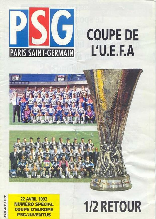 1993-04-22  PSG-Juventus Turin (Demi-Finale Retour C3, Le Magazine PSG N°HS)