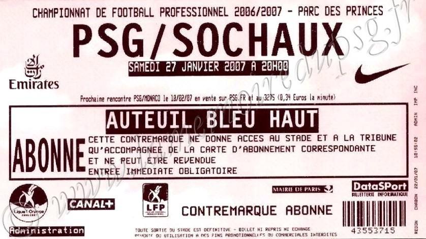 2007-01-27  PSG-Sochaux (22ème L1)