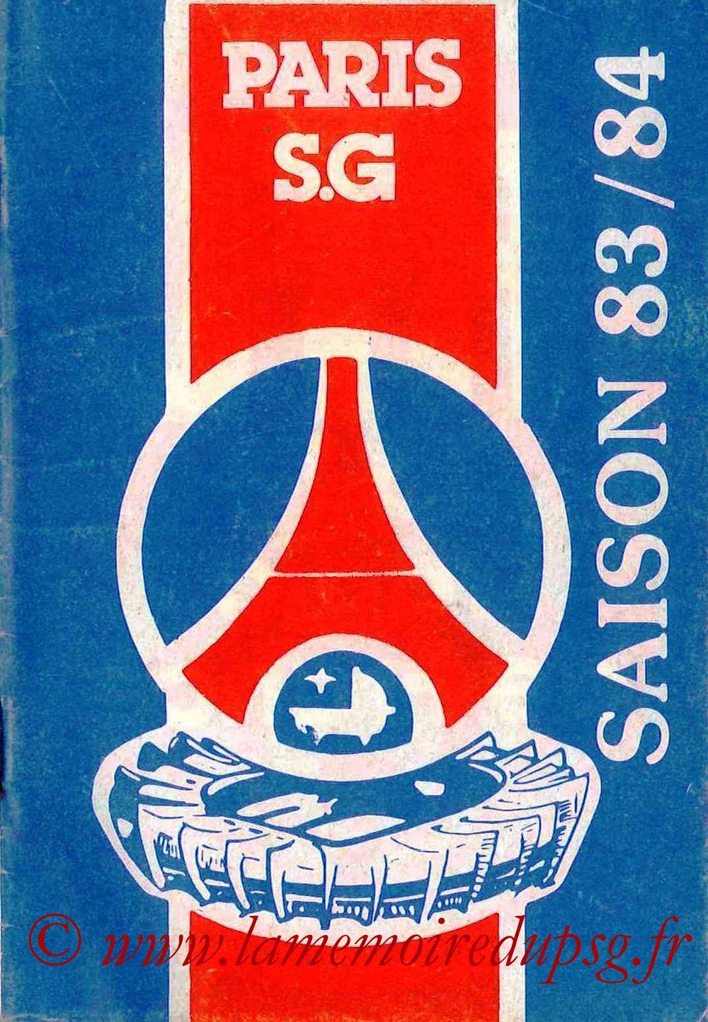 1983-84 - Guide de la Saison PSG - Couverture