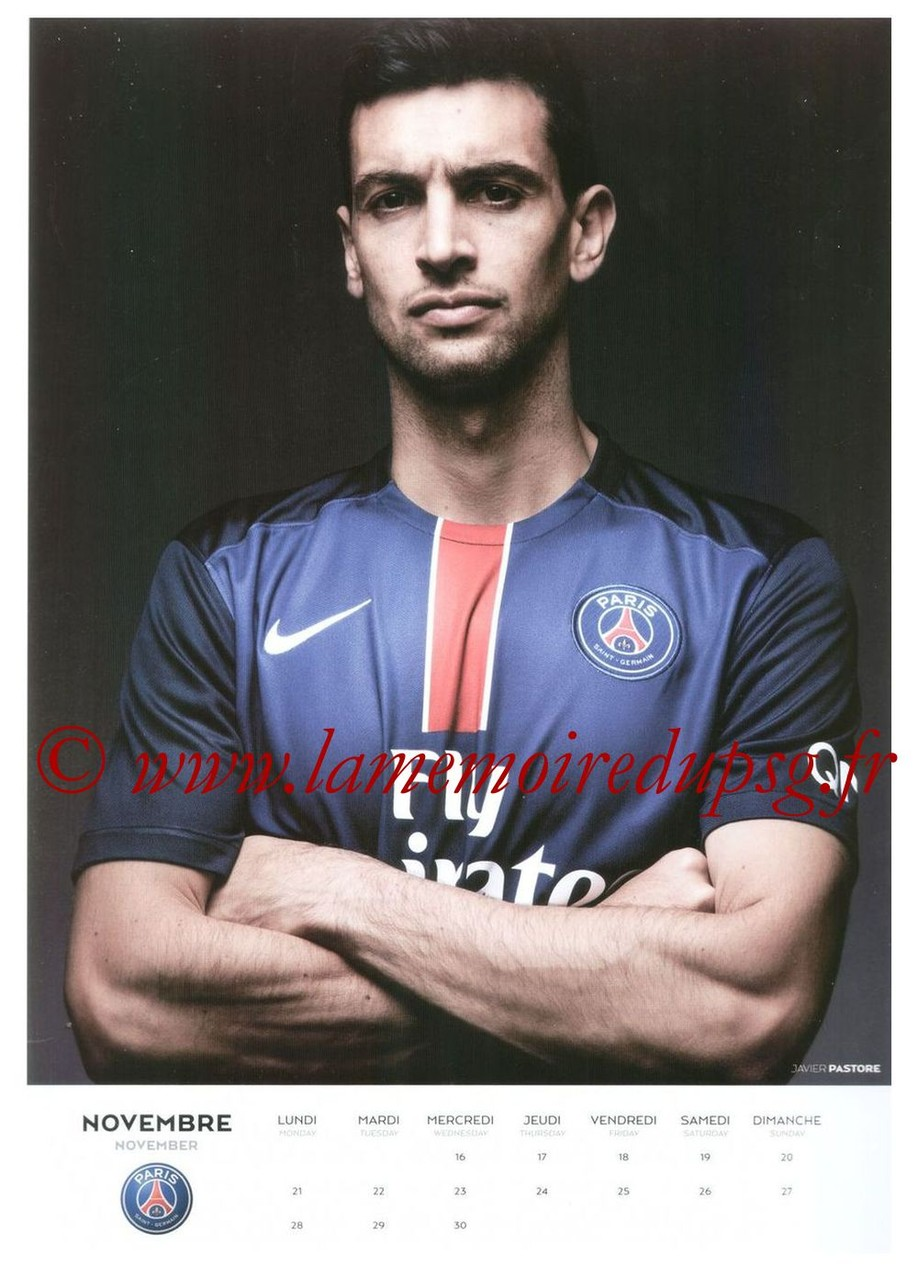 Calendrier PSG 2016 - Page 22 - Javier PASTORE