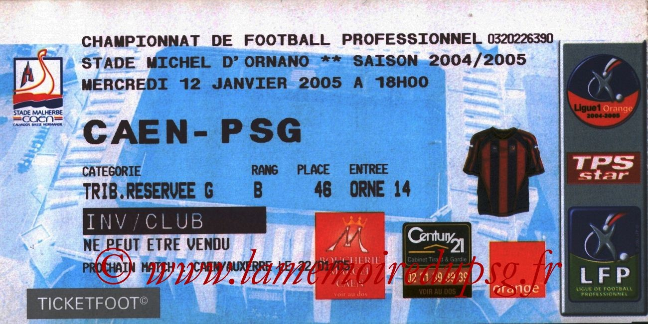 2005-01-12  Caen-PSG (20ème L1)