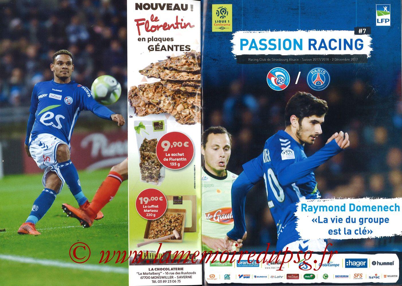 2017-12-02  Strasbourg-PSG (16ème L1, Passion Racing N°7) - Pages 02 et 03