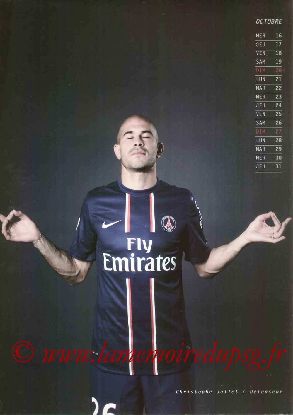 Calendrier PSG 2013 - Page 20 - Christophe JALLET