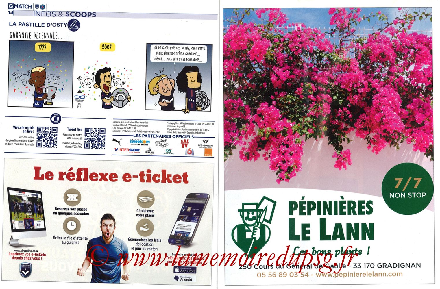 2018-04-22  Bordeaux-PSG (34ème L1, Girondins Match N°59) - Pages 14 et 15