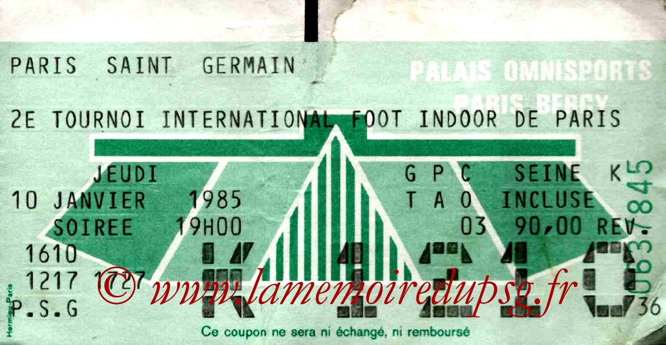 1985-01-10  PSG-Anderlecht et PSG-Maroc (2ème Foot indoor à Bercy)