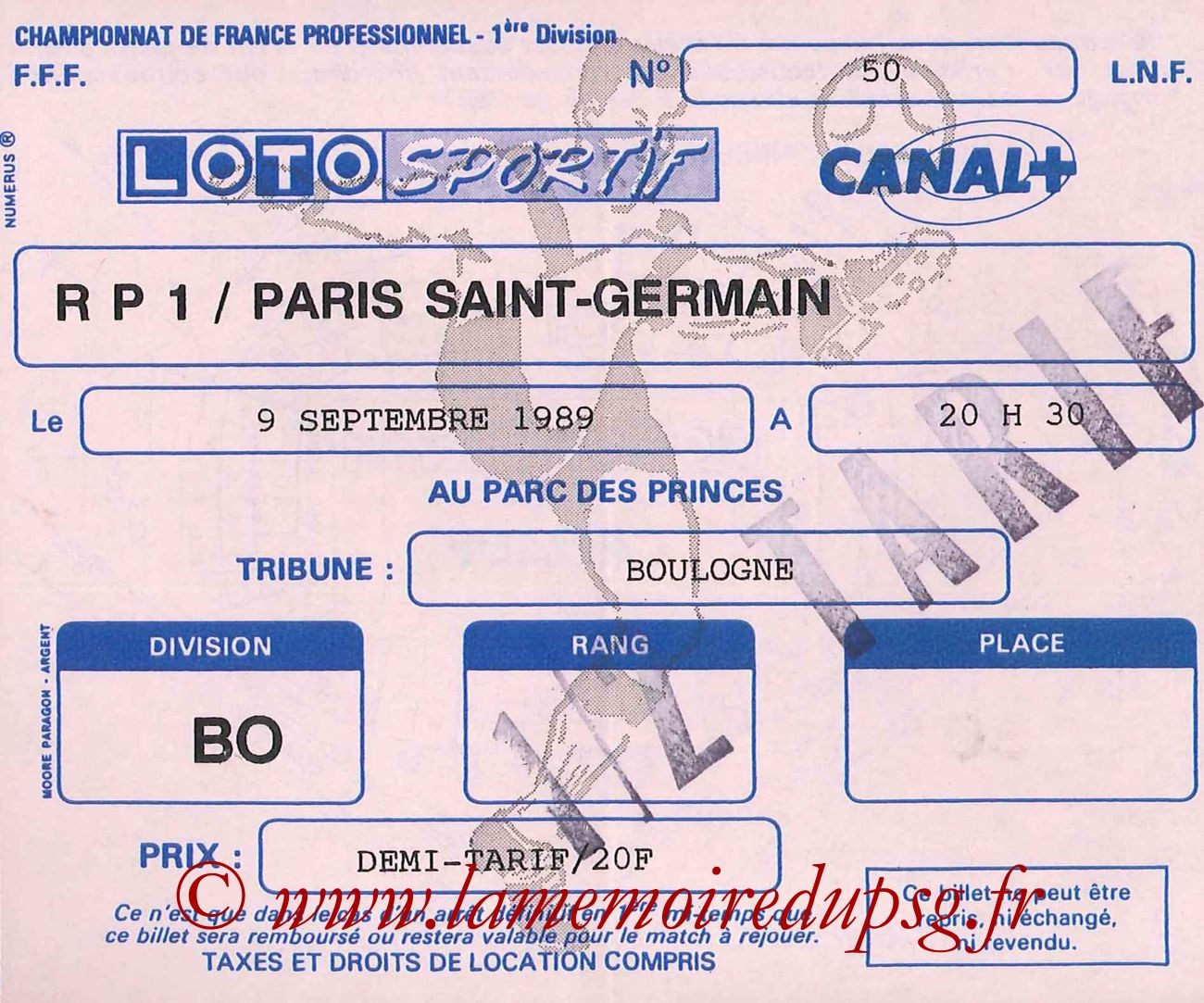 1989-09-09  Racing Paris 1-PSG (9ème D1)