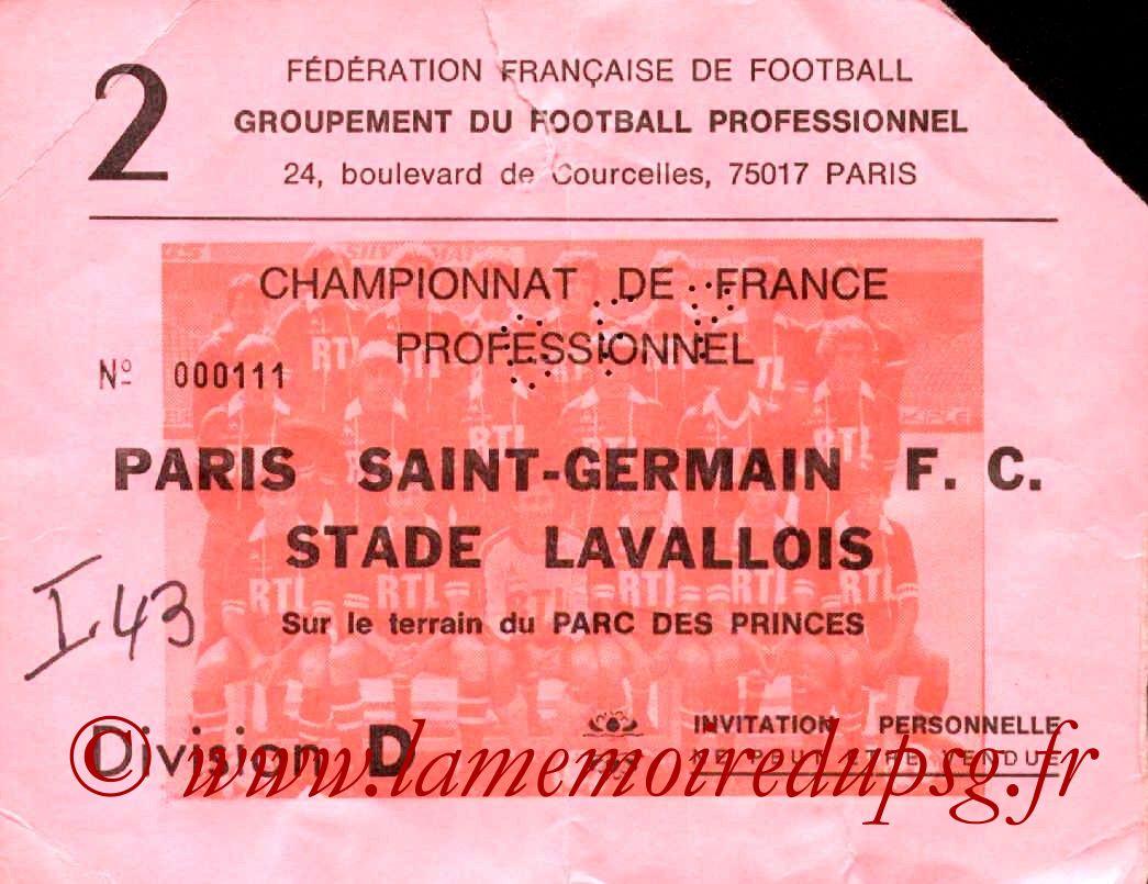1981-07-28  PSG-Laval (2ème D1, Invitation)