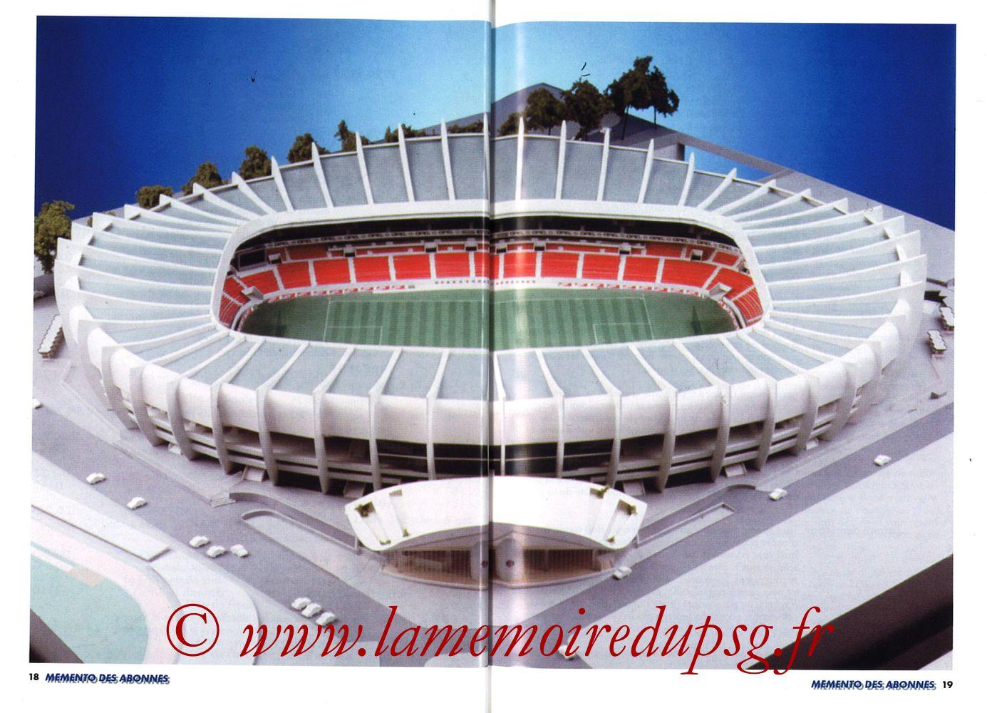 1999-00 - Guide de la Saison PSG - Pages 18 et 19