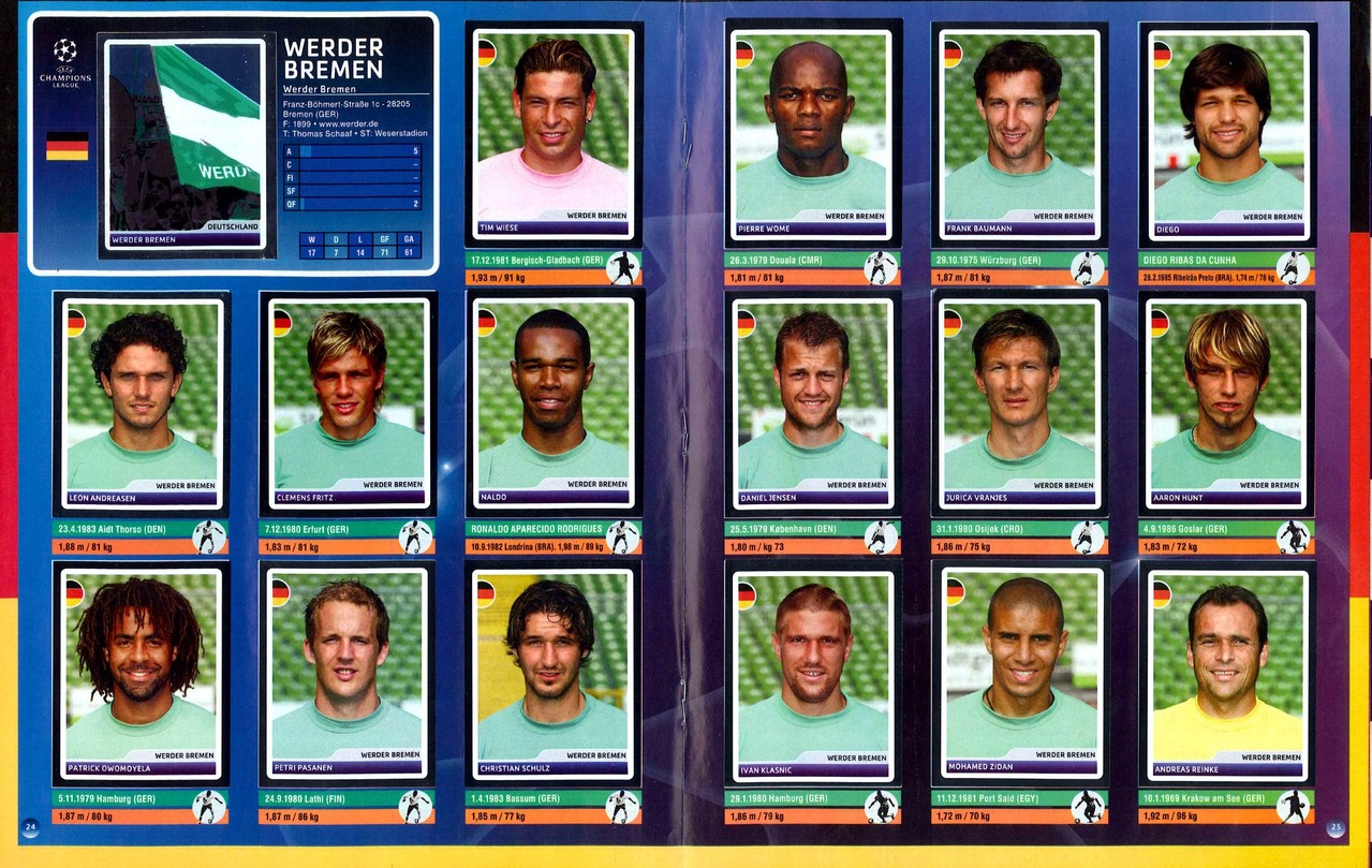 2006-07 - Panini Champions League - Pages 24 et 25 - Werder Breme