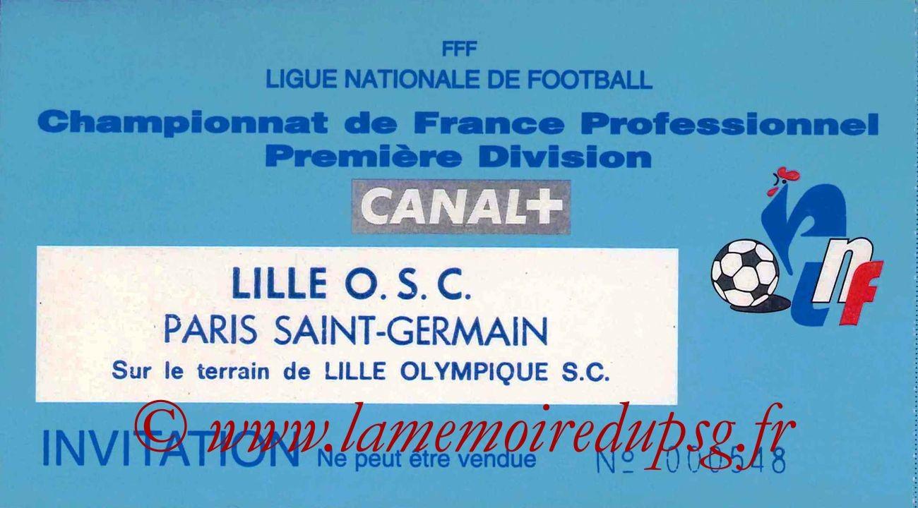 1995-03-22  Lille-PSG (30ème D1, Invitation LNF)