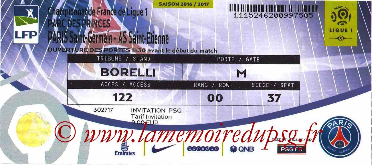 2016-09-09  PSG-Saint Etienne (4ème L1)