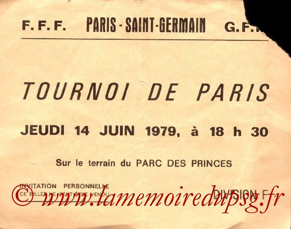 1979-06-14  PSG-Sélection Brésilienne (Match 3ème Place Tournoi de Paris, Invitation)