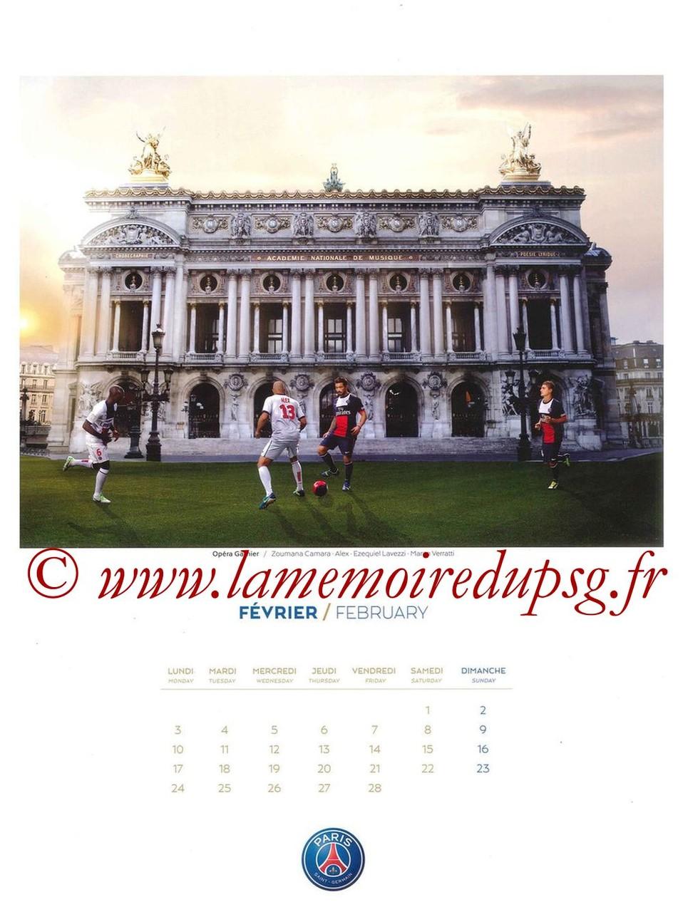 Calendrier PSG 2014 - Page 02 - Opéra Garnier