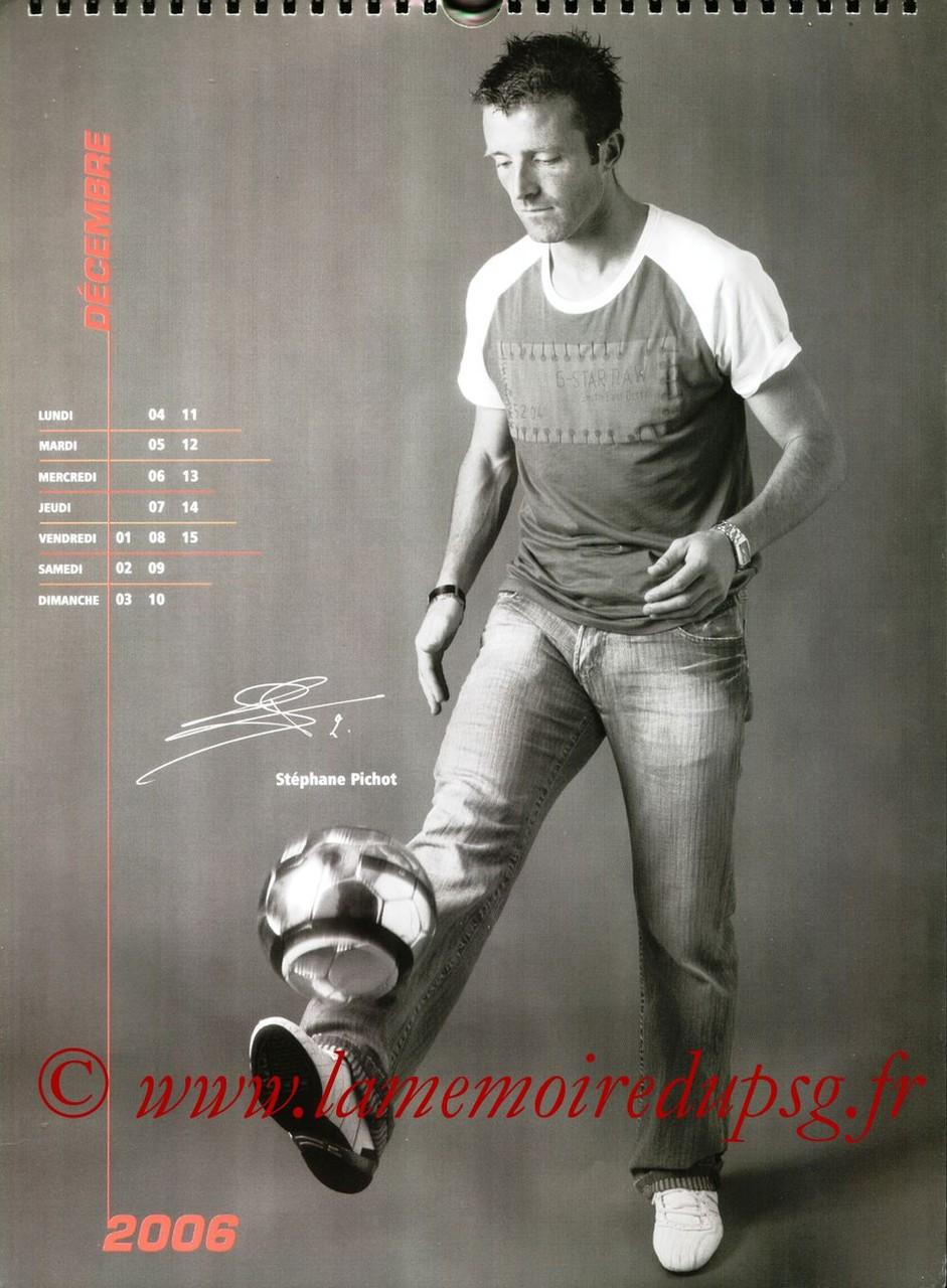 Calendrier PSG 2006 - Page 23 - Stéphane PICHOT