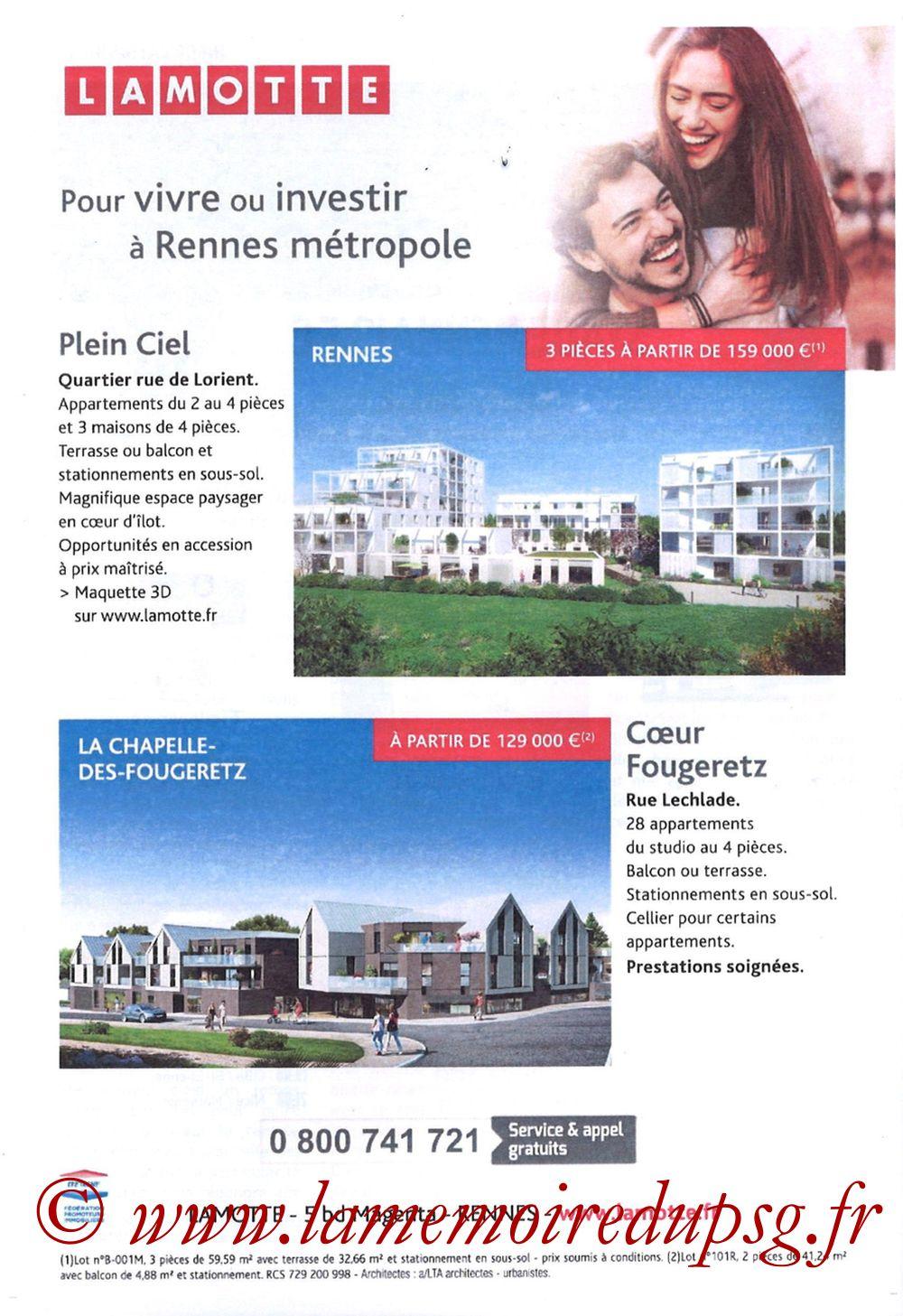 2019-08-18  Rennes-PSG (2ème L1, Programme officiel) - Page 16