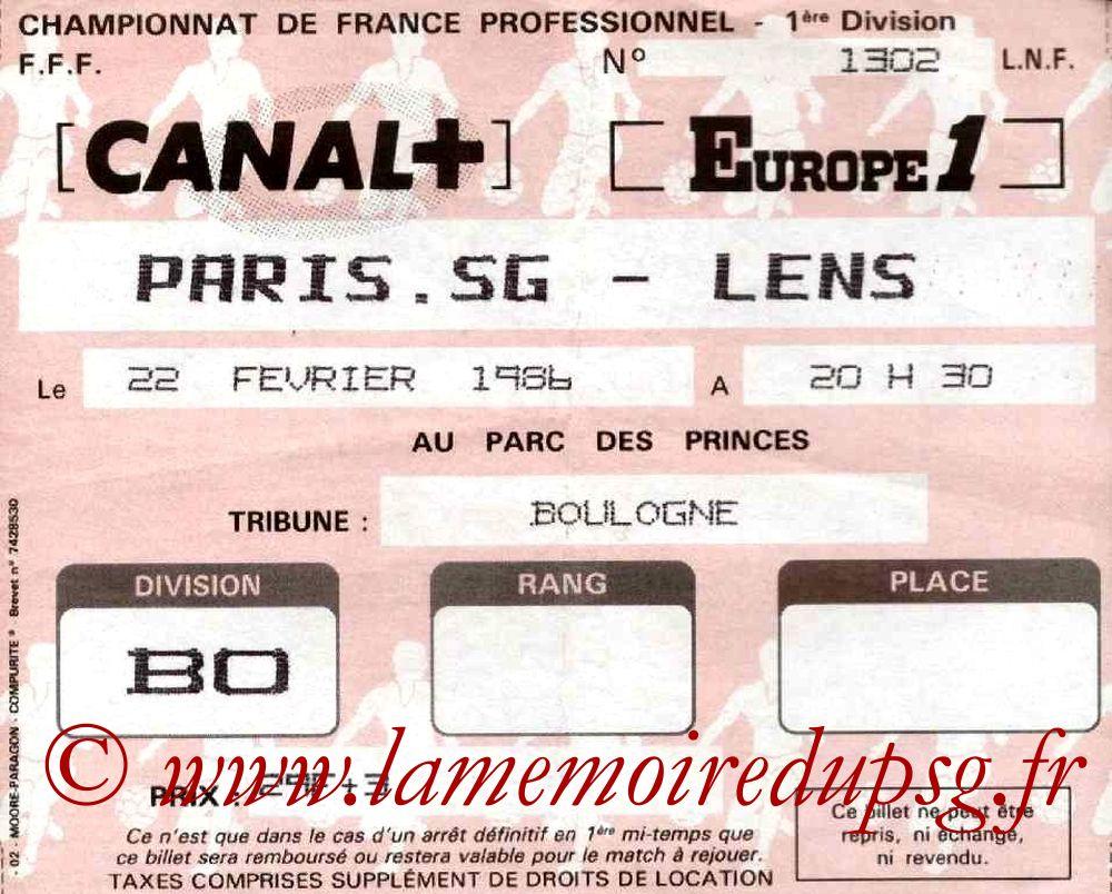 1986-02-22  PSG-Lens (30ème D1)