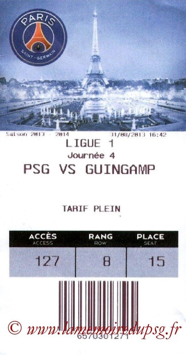 2013-08-31  PSG-Guingamp (4ème L1, E-Ticket)