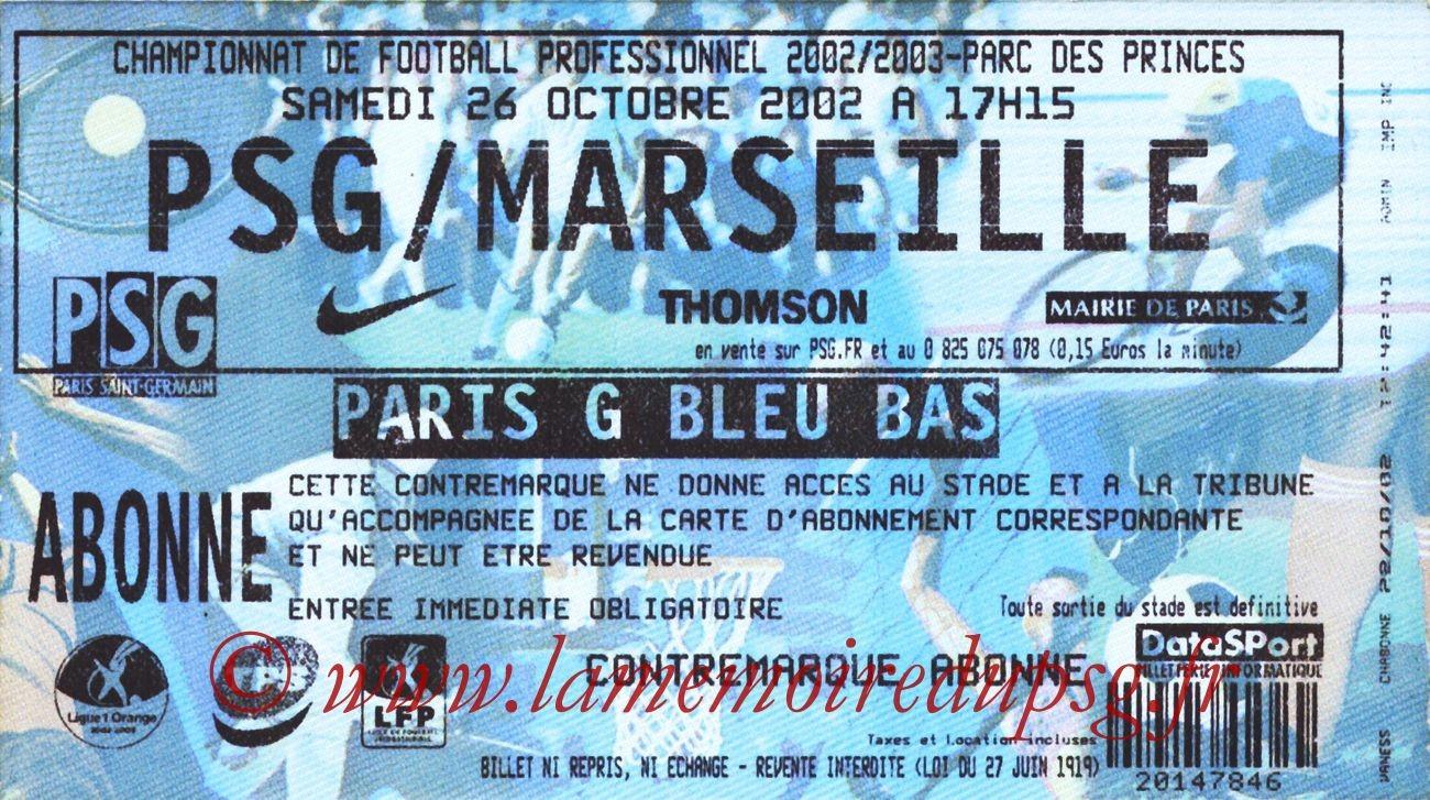 2002-10-26  PSG-Marseille (12ème L1)