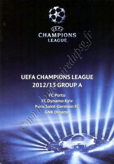 2012-10-24  Dinamo Zagreb-PSG (3ème Journée Poule C1, Programme officiel)