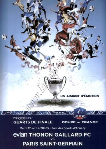 2013-04-17  Evian-PSG (Quart Finale CF, Programme Officiel N° 37)