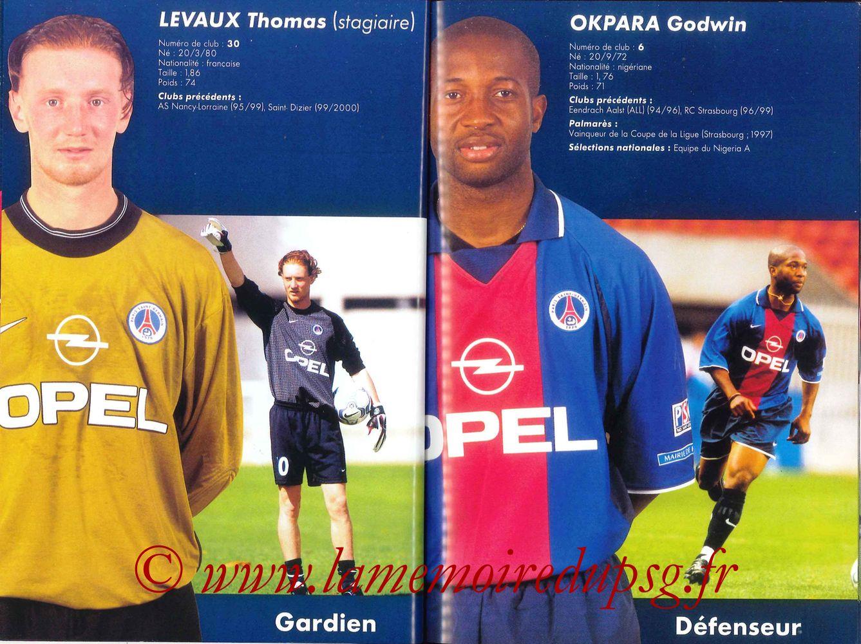 2000-01 - Guide de la Saison PSG - Pages 36 et 37