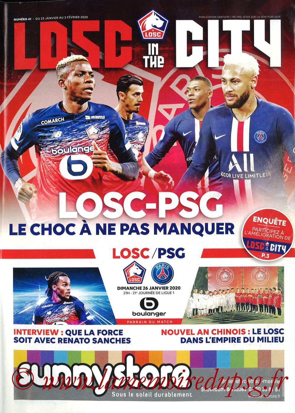 2020-01-25  Lille-PSG (21ème L1, Losc in the City N°41)