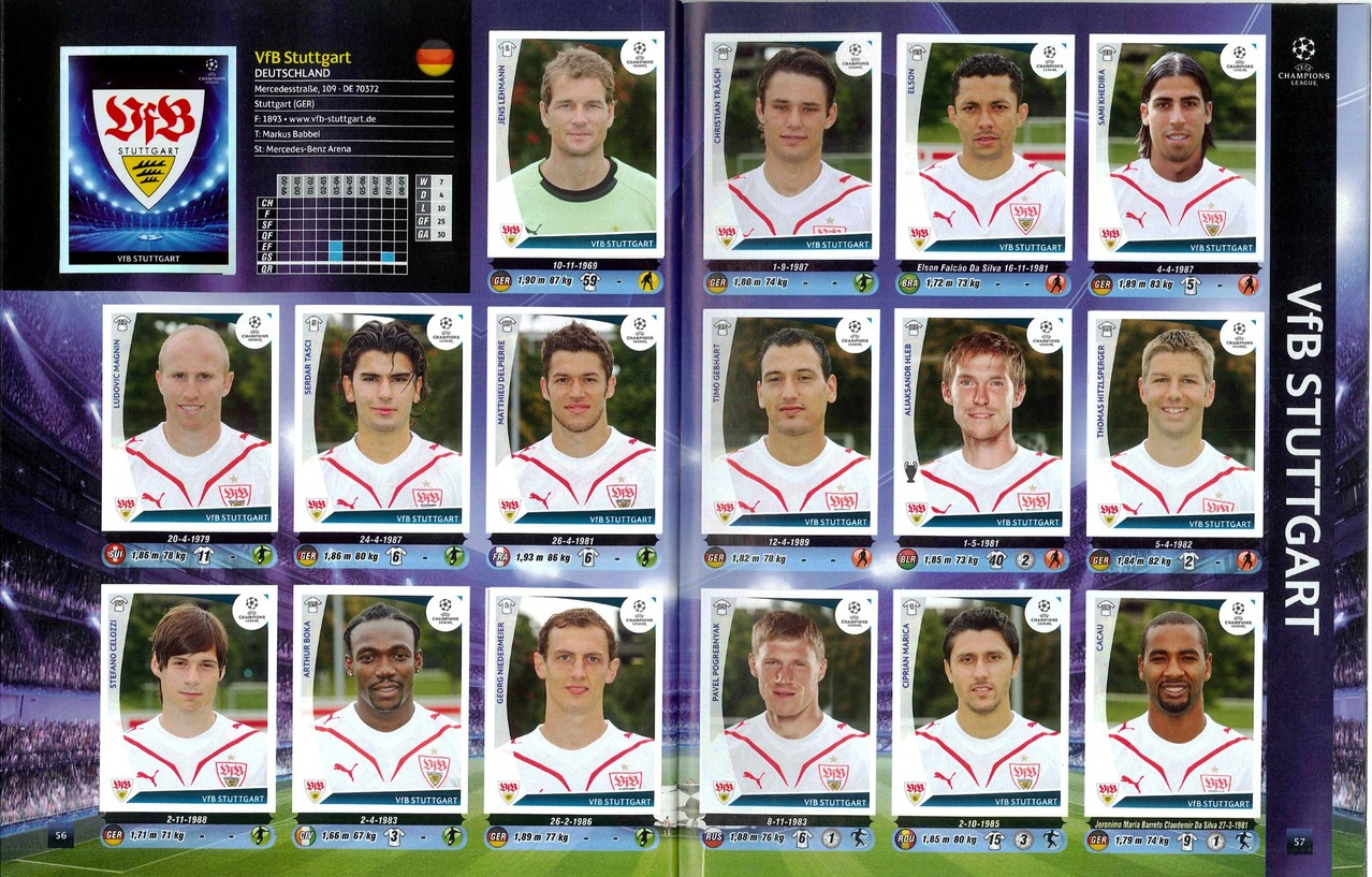 2009-10 - Panini Champions League - Pages 56 et 57 - VFB Stuttgart