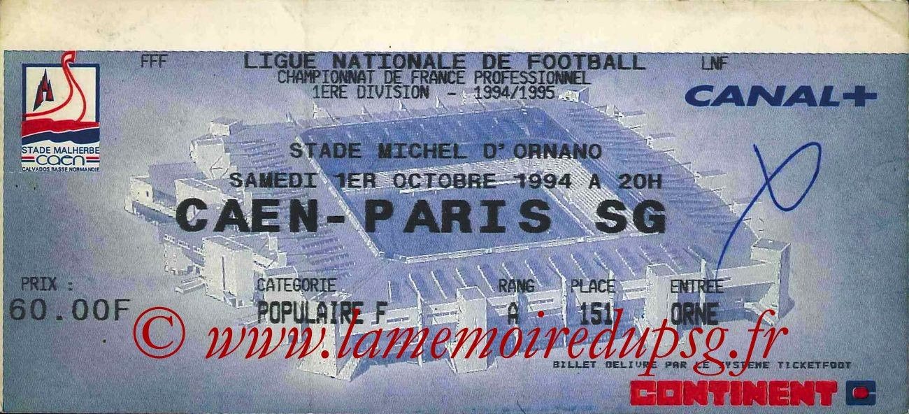 1994-10-01  Caen-PSG (11ème D1)